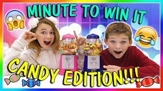 MINUTE TO WIN IT | CANDY EDITION | We Are The Davises