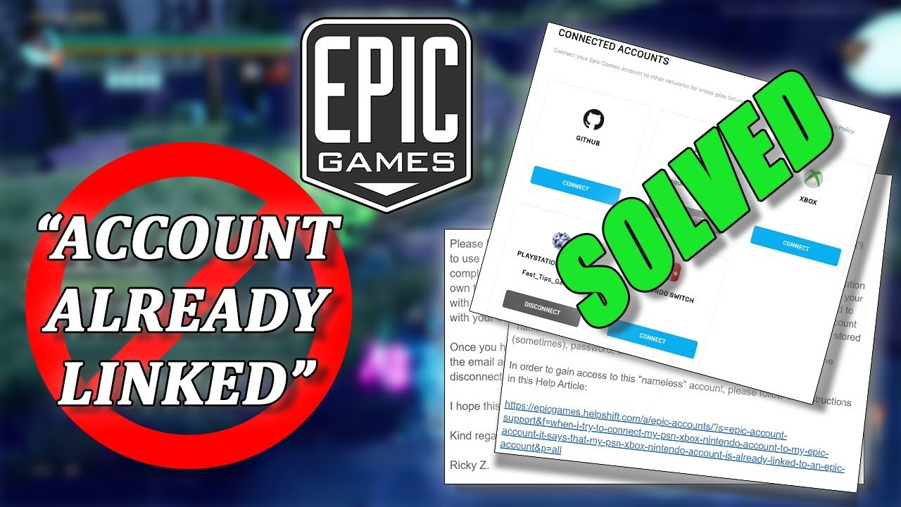 "How To Fix ""Account Already Linked"" SOLVED - Epic Games ..."