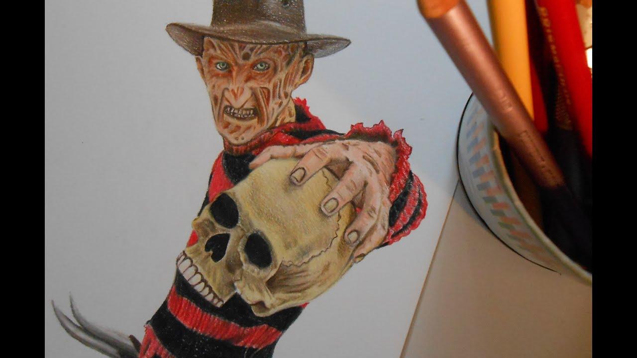 draw halloween characters freddy krueger youtube