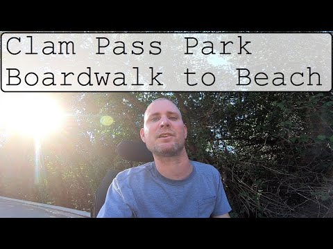 Clam Pass Park boardwalk through the mangroves to the beach in Naples Florida Vlog.