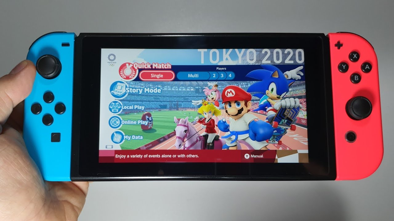 Nintendo 3ds Games 2020.Mario Sonic At The Olympic Games Tokyo 2020 Nintendo Switch Handheld Gameplay