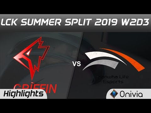 GRF vs HLE Highlights Game 1 LCK Summer 2019 W2D3 Griffin vs Hanwha Life Esports LCK Highlights by O