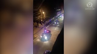 Police patrol with blaring sirens amid crackdown on 'tambays'