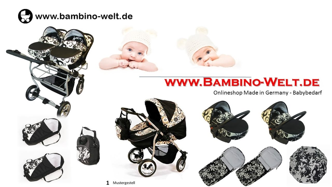 zwillingswagen kinderwagen f r zwillinge geschwister zweisitzer duo sore premium youtube. Black Bedroom Furniture Sets. Home Design Ideas