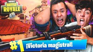 MI MEJOR PARTIDA CON EL *RIFLE DE CAZA* de FORTNITE: Battle Royale! - Agustin51