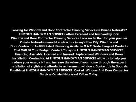 Window and Door Contractor Services and Cost Omaha Nebraska | LINCOLN HANDYMAN SERVICES