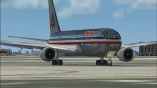 FS2004 - American Airlines Landing At Chicago