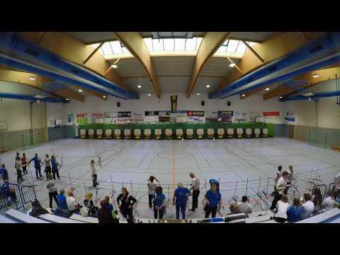 Bezirksmeisterschaft Bogen Halle 2018 in Dietzenbach (Zeitraffer)