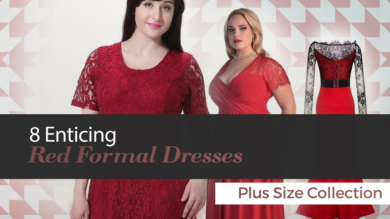 062d2354614 8 Enticing Red Formal Dresses Plus Size Collection - YouTube