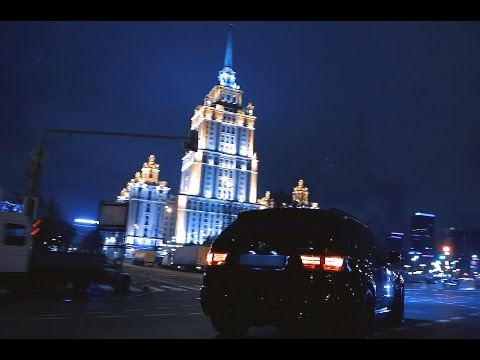 BMW X5M Vs ML63 Moscow Street Racing