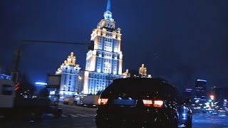 BMW X5M vs ML63 Moscow street racing