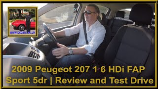 2009 Peugeot 207 1 6 HDi FAP Sport 5dr   Review and Test Drive