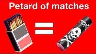 Awesome DIY Petard of matches