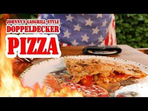 Doppeldecker-Pizza vom Gasgrill - BBQ Grill Rezept Video - Die Grillshow 254a