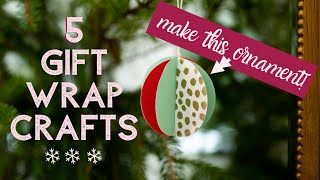 Make These 5 Crafts with Wrapping Paper!