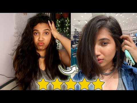 I WENT TO THE BEST REVIEWED HAIR SALON IN MY CITY SURAT,INDIA  Long Hair to short Hair   Sweety Kaji