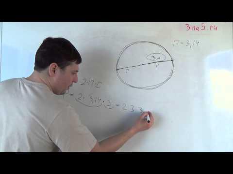 Как из длины окружности вычислить радиус