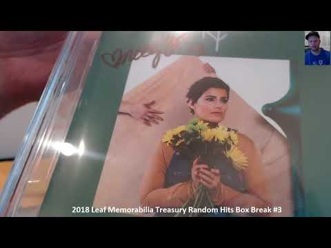 2018 Leaf Memorabilia Treasury Random Hits Box Break #3 ~ 3/18/18