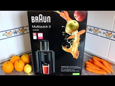 Braun J300 Multiquick 3 Juicer Demo