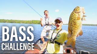 2v2 YouTuber Bass Fishing Challenge -- Wisconsin VLOG no. 4