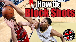 how to block shots become a better defender pro training basketball