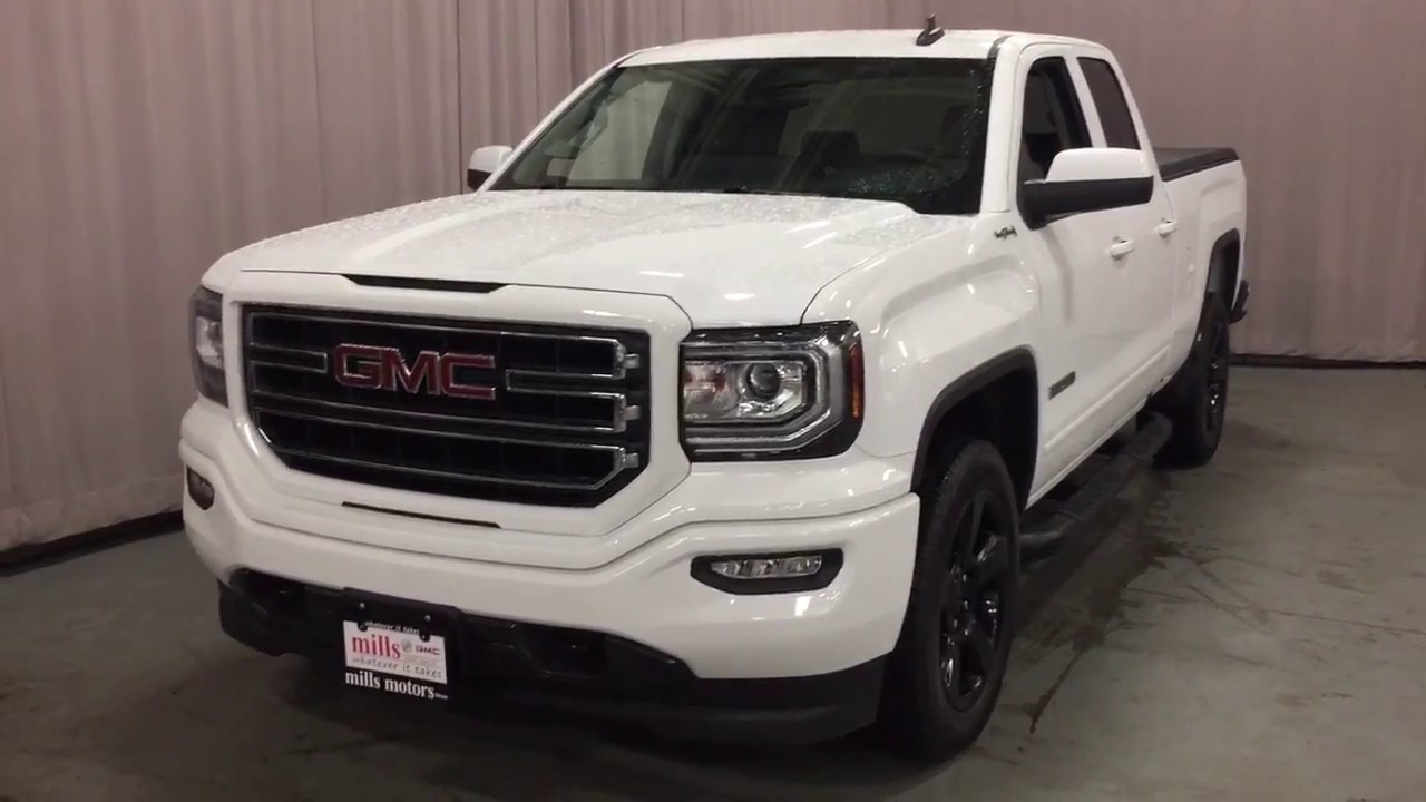 Gmc Sierra Elevation >> 2017 GMC Sierra 1500 4WD White Double Cab Elevation Edition Tonneau Cover Oshawa ON Stock ...