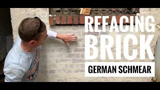 How to repair oĮd brick using the German Smear or Schmear