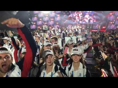 Team USA marching in at the 20th Maccabiah