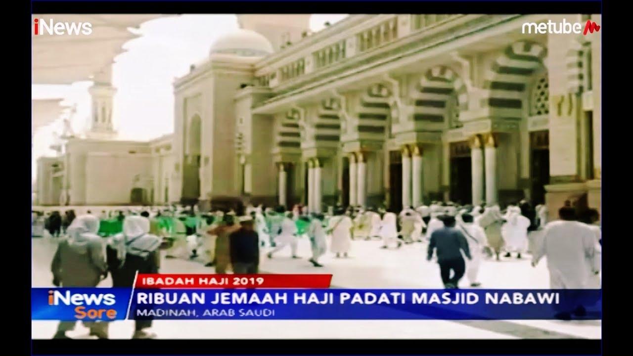 Suasana Ribuan Jemaah Haji Mulai Padati Masjid Nabawi Di Madinah