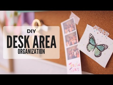 Diy Desk Area Wall Organization Ideas