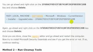 Fix Microsoft Security Essentials Install Error Code 0×80070645
