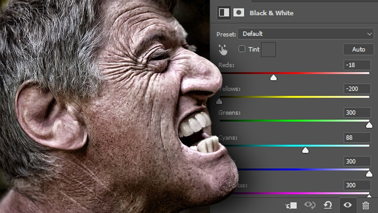 Black and White Adjustments in Photoshop | Now Available for Color Images!