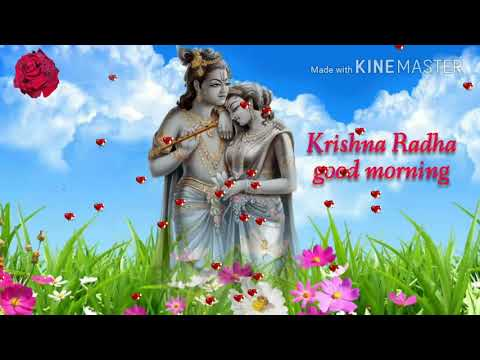 Krishna Radha Shayari Video Good Morning Wallpaper