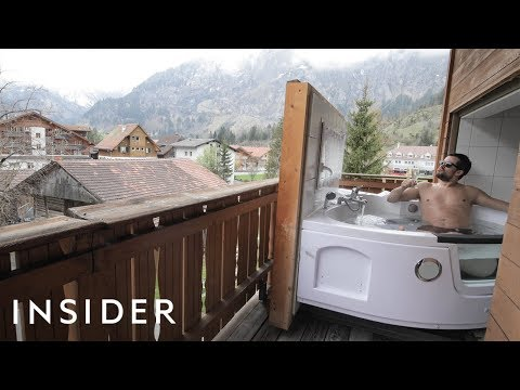 Soak In A Transforming Hot Tub In The Swiss Alps