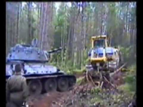 WWII T34 Tank Recovered
