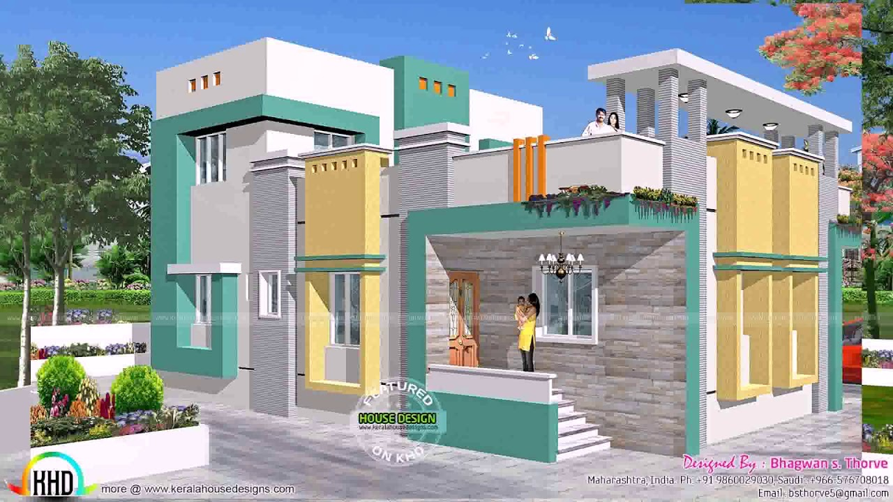 Home Design With Cost Estimate In India - YouTube