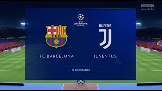 ... this is the full fifa 19 football match between fc barcelona and juventus. game has