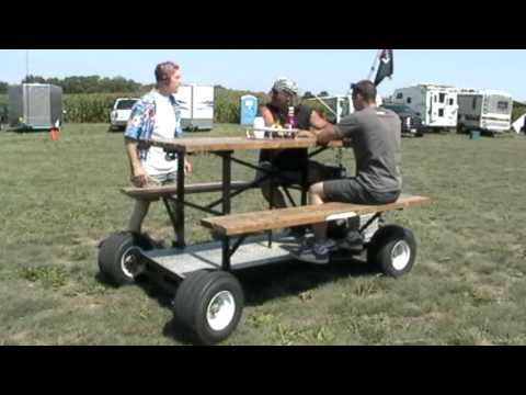 Powered Picnic Table Youtube