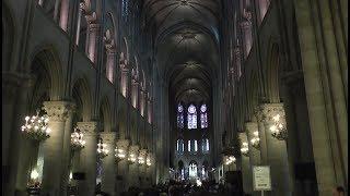 Notre-Dame de Paris. Inside the cathedral September 28, 2017