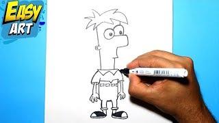 Como dibujar a Ferb - Phineas y Ferb | How to draw Ferb - Phineas y Ferb