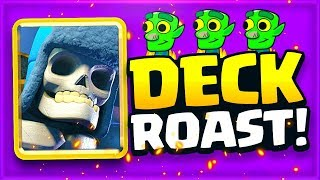 ROASTING Fan Made GIANT SKELETON DECKS in Clash Royale!