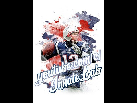 Color Splash Sports DIY Tutorial Player Football Basketball NFL Patriots Brady HD Photoshop Template