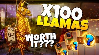 LOOT DE 100 LLAMAS! 4 000 V-Bucks SONT-ils WORTH IT? Fortnite sauver le monde