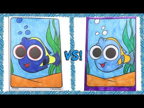 Coloring Contest #1 Finding Dory Baby Dory Speed Coloring Book Page Time Lapse With Markers