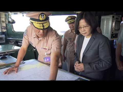 Tsai boards warship, proclaims Taiwan's rights to South China Sea