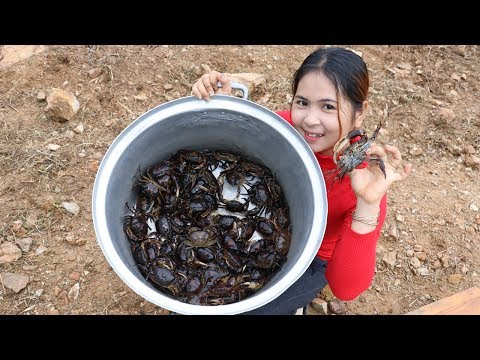 Awesome Cooking Crabs Delicious Recipe - Cook Crab Recipes - Village Food Factory