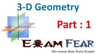 Maths 3 Dimensional Geometry part 1 (Introduction) CBSE class 12 Mathematics XII