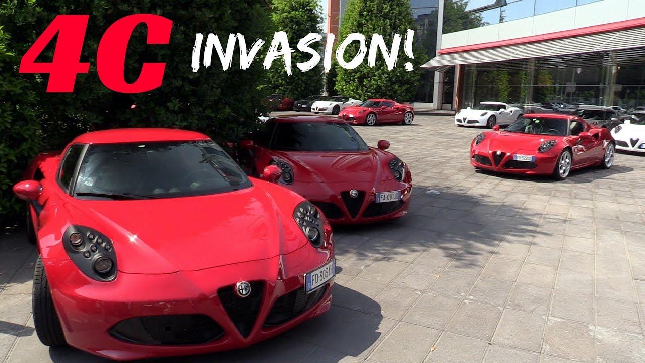 Alfa Romeo 4c Invasion Maserati Factory Gathering 2017 Youtube