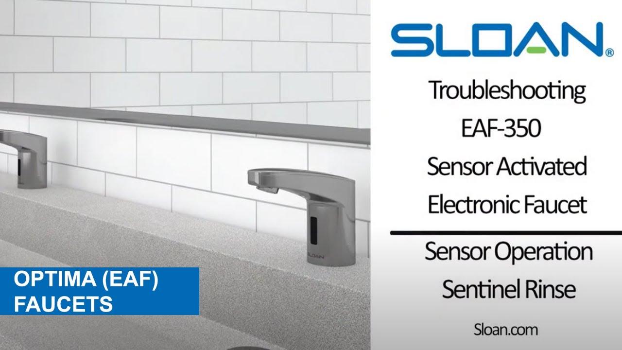 EAF 350 Sensor Operation Enabling Sentinel Rinse - YouTube