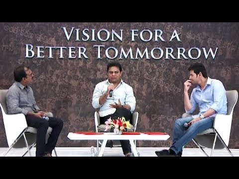 KTR Special Interview With Mahesh Babu   Vision for Better Tomorrow   Manastars